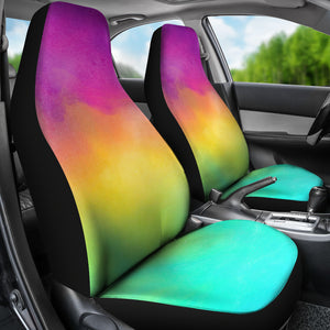 Bright Rainbow Watercolor Car Seat Covers