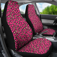 Load image into Gallery viewer, Hot Pink and Tan Leopard Print Car Seat Covers