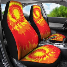 Load image into Gallery viewer, Red Orange and Yellow Tie Dye Car Seat Covers