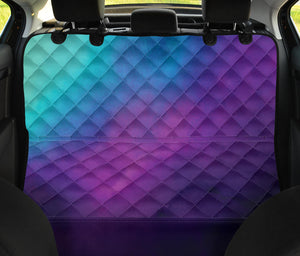 Purple, Teal and Blue Ombre Watercolor Back Seat Protector Cover For Pets