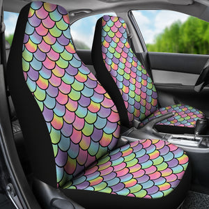 Rainbow Mermaid Scales Car Seat Covers Protectors