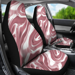 Rose Gold Liquid Metal Car Seat Covers