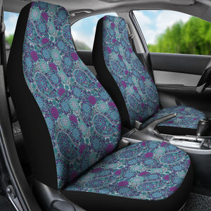 Blue Purple Paisley Car Seat Covers