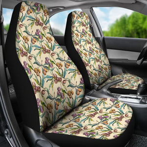 Tuscan Olives Light Stone Background Car Seat Covers