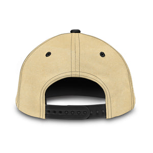 Tan Boho Cow Skull and Feathers Classic Hat Baseball Cap
