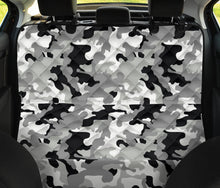 Load image into Gallery viewer, Gray, Black and White Camouflage Back Bench Seat Cover For Pets