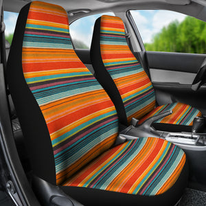 Mexican Serape Style Colorful Seat Covers Set