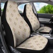 Load image into Gallery viewer, Tan Fleur De Lis Car Seat Covers