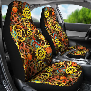 Steampunk Gear Pattern Car Seat Covers