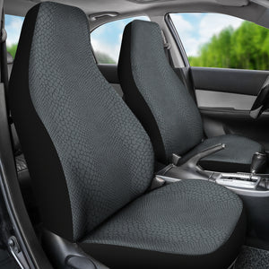 Gray Snake Skin Reptile Scales Car Seat Covers