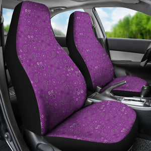 Purple Paisley Seat Covers