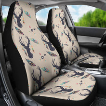 Load image into Gallery viewer, Boho Deer Feathers and Arrows Car Seat Covers Tan