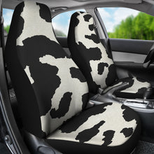 Load image into Gallery viewer, Cow Hide Print Car Seat Covers Black and White Rustic Pattern