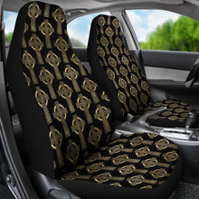 Load image into Gallery viewer, Celtic Cross Black and Gold Colored Car Seat Covers Seat Protectors