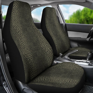 Olive and Black Snake, Reptile, Car Seat Covers, Skin, Scales