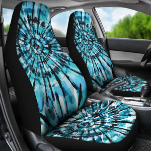 Tie Dye Seat Covers Teal, Black and Blue