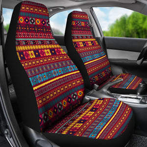 Colorful Ethnic Pattern Car Seat Covers Red, Blue and Yellow