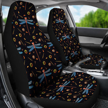Load image into Gallery viewer, Black With Steampunk Dragonfly Pattern Car Seat Covers Seat Protectors