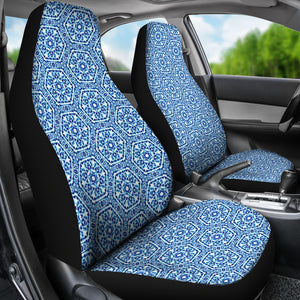 Shibori Blue and White Car Seat Covers Ethnic