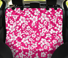 Load image into Gallery viewer, Hot Pink Hibiscus Hawaiian Back Seat Protector Cover For Pets