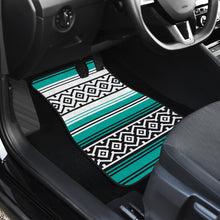 Load image into Gallery viewer, Turquoise Mexican Serape Inspired Floor Mats Set of 4