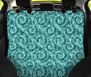 Turquoise Tie Dye Pet Car Seat Cover For Back Seat