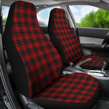 Load image into Gallery viewer, Red and Black Plaid Tartan Car Seat Covers