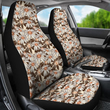 Load image into Gallery viewer, Tan With Daisies Car Seat Covers