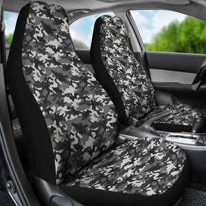 Black Gray Camouflage Car Seat Covers