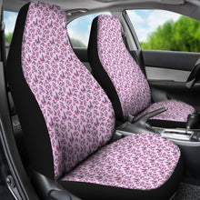 Load image into Gallery viewer, Pink With Watercolor Crystals Car Seat Covers