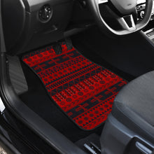 Load image into Gallery viewer, Set of 4 Car Floor Mats Red and Black Thunderbird Mexican Native American Inspired Ethnic Boho