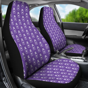 Purple Essential Oil Bottles Car Seat Covers
