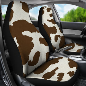 Brown and White Cow Hide Print Rustic Pattern