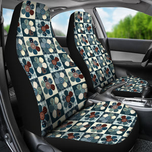 Patchwork Style Flower Pattern Car Seat Covers
