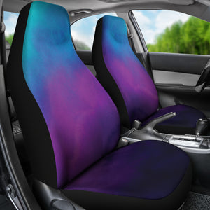 Watercolor Teal, Purple and Blue Ombre Car Seat Covers