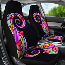 Load image into Gallery viewer, Colorful Abstract Swirls Car Seat Covers Set