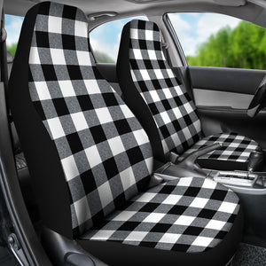 Large Buffalo Check Marled Pattern Car Seat Covers Set