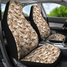 Load image into Gallery viewer, Tan camouflage car seat covers
