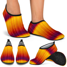 Load image into Gallery viewer, Orange and Yellow Tie Dye Water Shoes