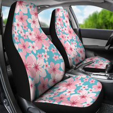 Load image into Gallery viewer, Teal With Large Pink and White Cherry Blossom Flower Seat Covers