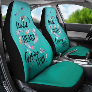 Wild Heart Gypsy Soul Ombre Car Seat Covers