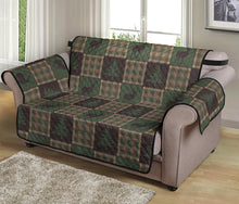 Load image into Gallery viewer, Woodland Plaid With Deer and Pine Trees Patchwork Pattern Furniture Slipcovers