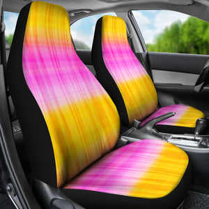 Pink and Yellow Tie Dye Car Seat Covers Seat Protectors