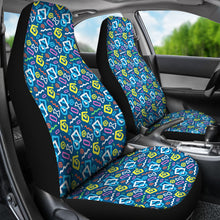 Load image into Gallery viewer, Colorful 80's Abstract Pattern Car Seat Covers