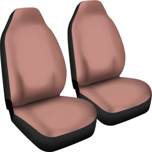 Rose Gold Solid Color Car Seat Covers Set