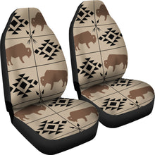 Load image into Gallery viewer, Bison Car Seat Covers Tan, Brown, Black With Ethnic Symbols and Arrows