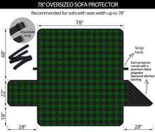 "Load image into Gallery viewer, Green Buffalo Plaid 78"" Oversized Sofa Cover Couch Protector Farmhouse Decor"
