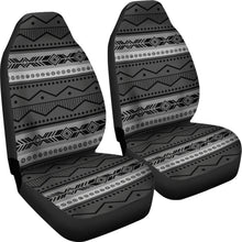 Load image into Gallery viewer, Gray and Black Ethnic Pattern Car Seat Covers Seat Protectors Tribal Boho Aztec