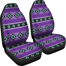 Load image into Gallery viewer, Purple Turquoise and Black Tribal Ethnic Aztec Car Seat Covers Boho Pattern