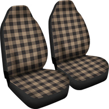Load image into Gallery viewer, Brown and Black Buffalo Plaid Car Seat Covers